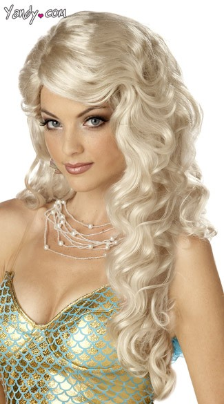 Blonde Mermaid Wig, Blonde Costume Wig, Mermaid Costume Wig