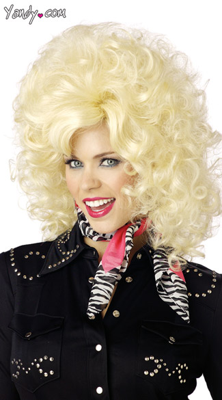 Country Western Diva Wig, Dolly Parton Wig