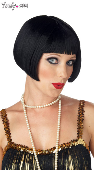 Flirty Flapper Wig, Flapper Girl Wig