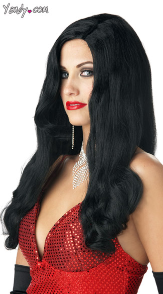 Silver Screen Sinsation Black Wig