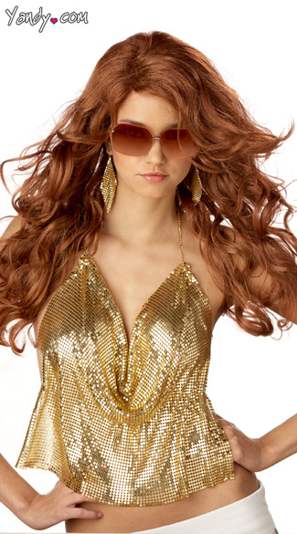 Sexy Super Model Wig, Super Model Red Wig, Womens Costume Wigs