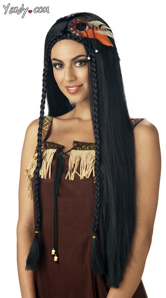 Sexy Indian Princess Wig, Indian Costume Wig