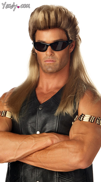 Dog the Bounty Hunter Wig, Mens Mullet Wig