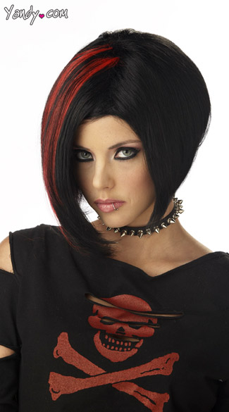 Mood Swing Wig Black And Red Gothic Girl Wig Goth Wig