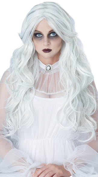 Supernatural Wig, Long Gray Wig, Ghost Wig