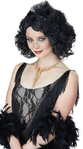 Black Short Curly Wig