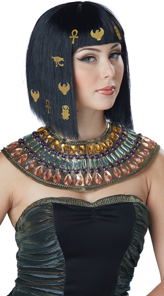 Black Hair-O-Glyphics Egyptian Wig