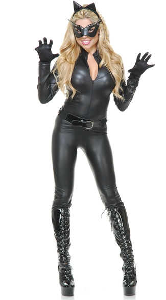 Wet Look Cat Vixen Costume