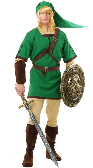 Men\'s Elf Warrior Costume, Men\'s Link Costume, Men\'s Elf Costume