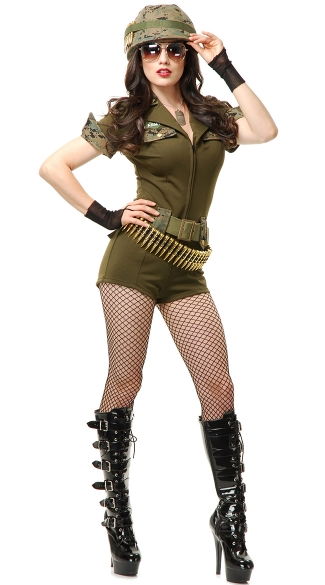 Sergeant Stunning Costume, Sexy Military Costume, Sexy Soldier Costume