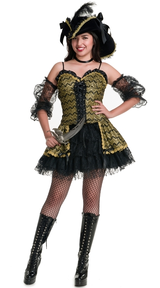 Black Pearl Beauty Costume, Sexy Pirate Costume, Sexy Sailor Costume