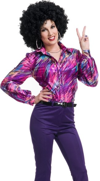70\'s Queen Disco Shirt, 70s Costume, 1970s Disco Costume