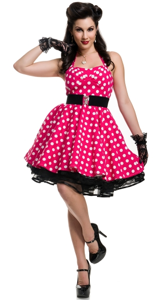 Pin-Up Polka Dot Cutie Costume, Sexy 1940s Costume, Pin-Up Dress Costume
