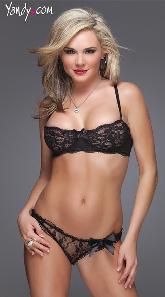 Black Lace Bra and Panty Set