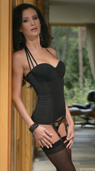 Halter Net Bustier and G-String