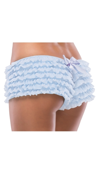 Ruffle Shorts W/ Back Bow Detail