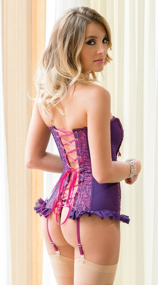 Purple and Fuchsia Corset