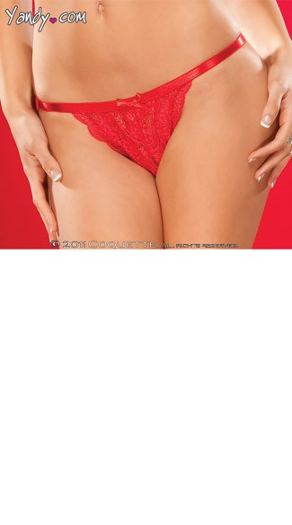 Plus Size Crotchless Lace Panty