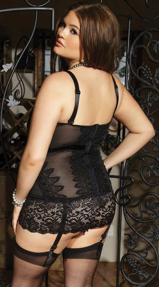 Plus Size Black Beauty Bustier
