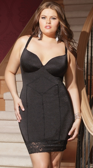 Plus Size Midnight Lace Chemise