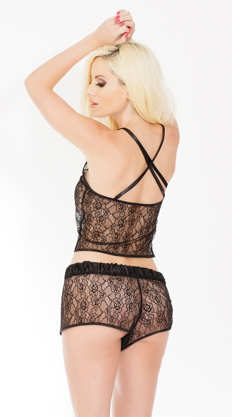 Black Lace Beauty Shorts