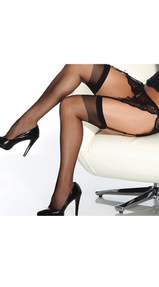 Sheer Thigh High Stockings, Sexy Sheer Stockings, Coquette Thigh High Stockings