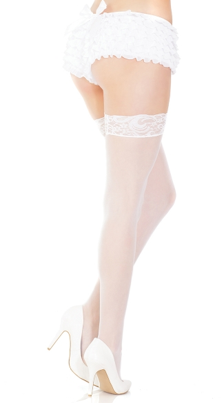 Sheer Thigh High Stay Up Stockings