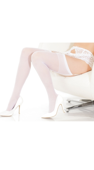 Sheer Back Seam Thigh High Stockings