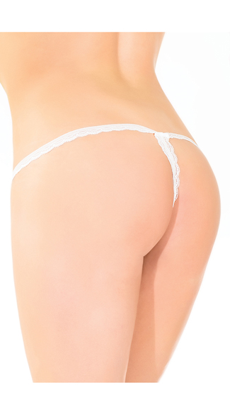 Lace Crotchless G-String