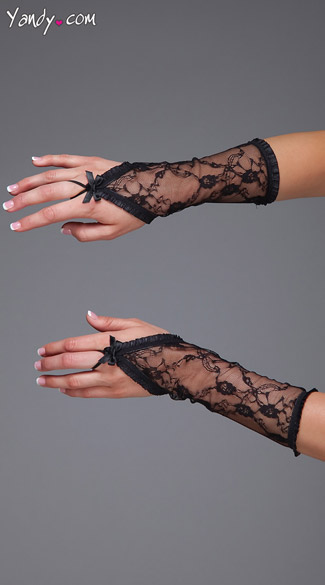 Lace Fingerless Gloves, Black Lace Gloves