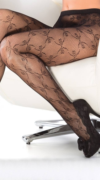 Bow Detail Fishnet Pantyhose, Fishnet Stockings, Crochet Pantyhose