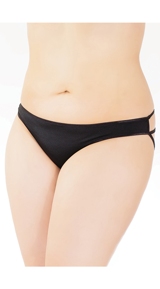 Plus Size Cage Back Bow Panty