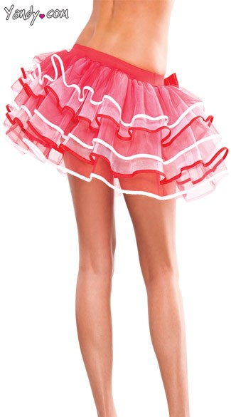 Two Tone Multi Layer Crinoline Skirt