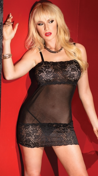 Mesh and Lace Bust Chemise