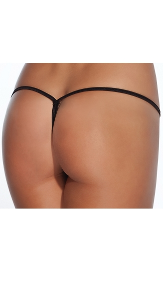 Plus Size Crotchless Lace Up G-String