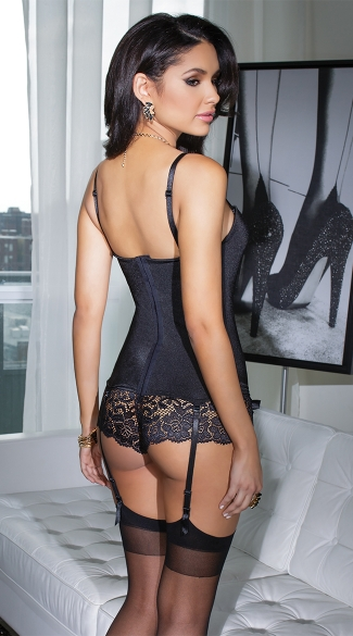 Stretch Bustier with Satin Bows