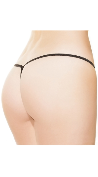 Plus Size Reversible Crotchless Lace G-String