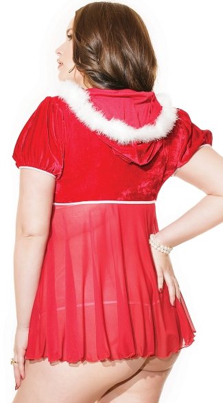 Plus Size Santa Babydoll and G-String