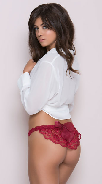 Burgundy Beauty Thong, Merlot Lace Thong
