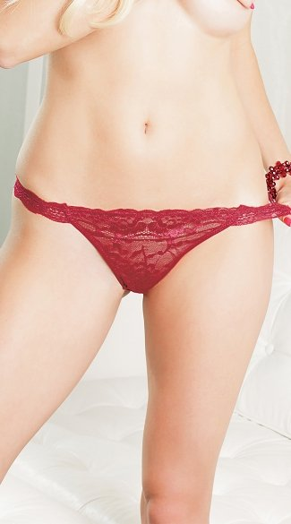 Burgundy Beauty Thong