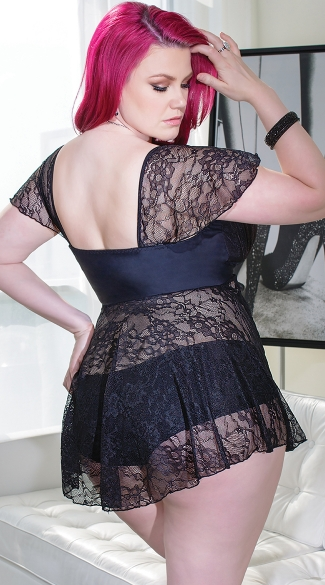 Plus Size Totally Tempting Cap Sleeve Babydoll