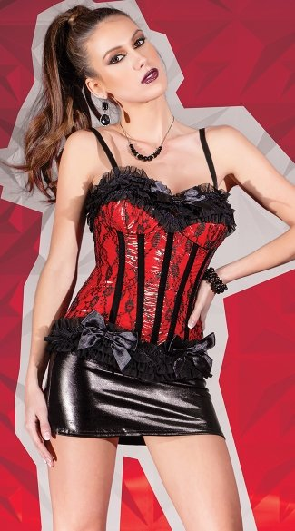 Red Wetlook Corset