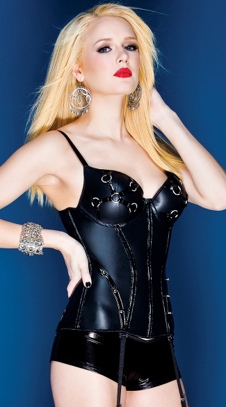 Stretch Pleather Bustier