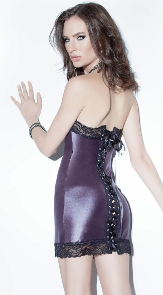 Wet Look Tube Dress