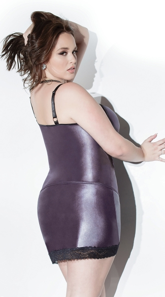 Plus Size Wet Look Tank Top