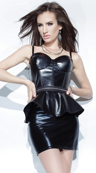 Wet Look Bustier