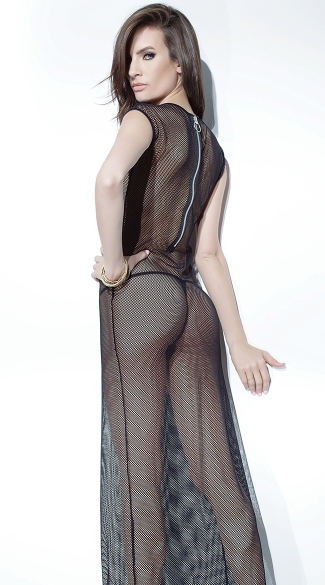 Long Fishnet Gown