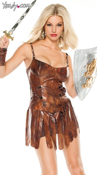 Dragon Slayer Costume, Sexy Gladiator Costume, Sexy Medieval Costume