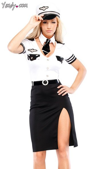 Sexy Mile High Pilot Costume