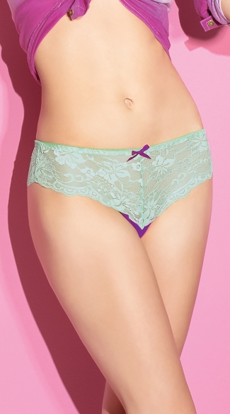 Magical Mint Thong, Mint Lace Thong, Blue Lace Thong